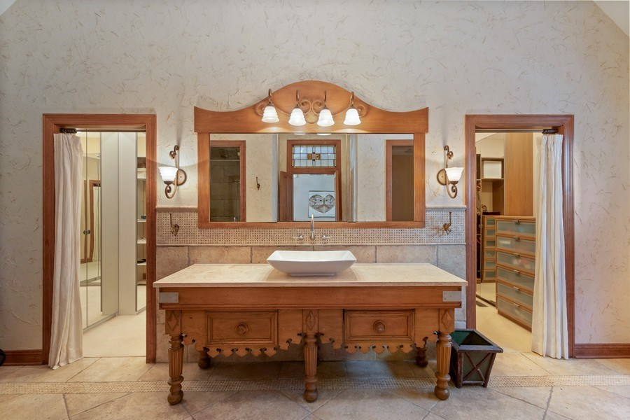 Real Estate Photography - 25130 N Cayuga Trail, Lake Barrington, IL, 60010 - Antique French Vanity & Mirror...Yes, those are He