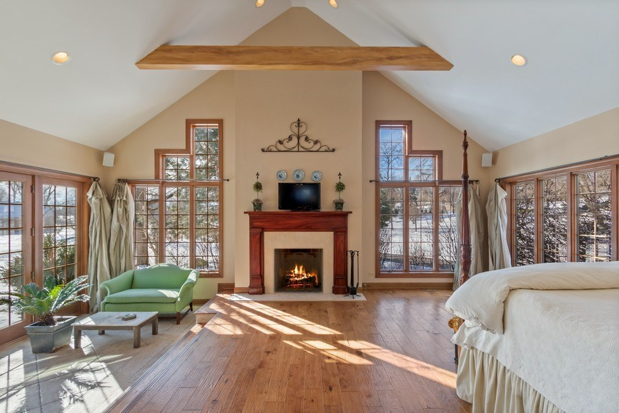 Real Estate Photography - 25130 N Cayuga Trail, Lake Barrington, IL, 60010 - Master Retreat with Sitting Area w/Heated Floors