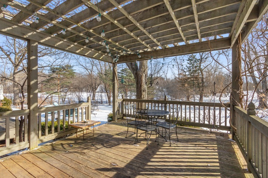 Real Estate Photography - 25130 N Cayuga Trail, Lake Barrington, IL, 60010 - Pergola-Covered Deck