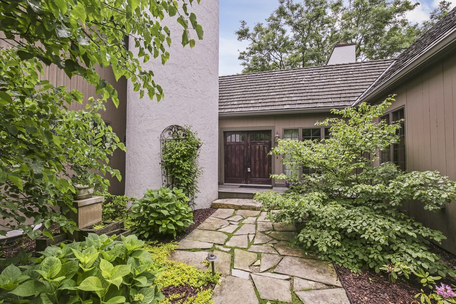 Real Estate Photography - 25130 N Cayuga Trail, Lake Barrington, IL, 60010 - Beautiful Courtyard Welcomes You Home!