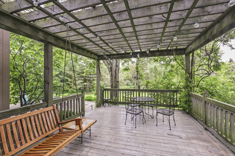 Real Estate Photography - 25130 N Cayuga Trail, Lake Barrington, IL, 60010 - Pergola Covered Deck