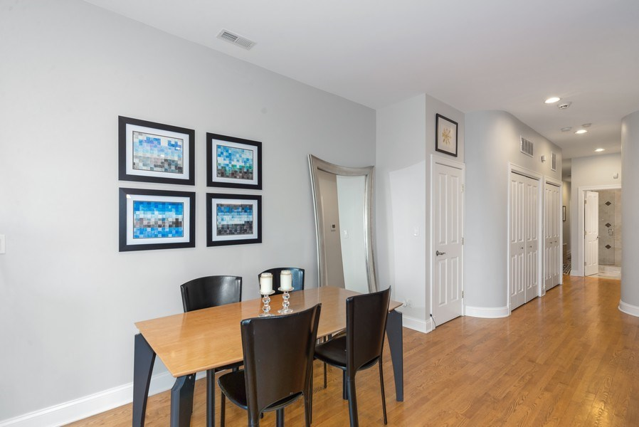 Real Estate Photography - 2115 W. Chicago #4, Chicago, IL, 60622 - Dining Room