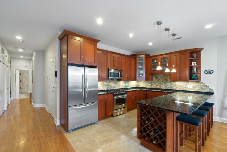 Real Estate Photography - 2115 W. Chicago #4, Chicago, IL, 60622 - Kitchen