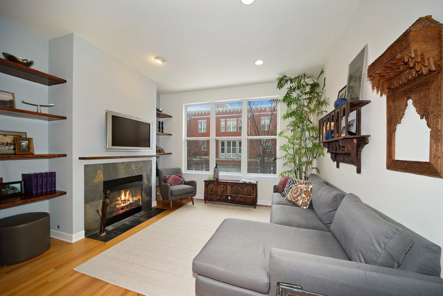 Real Estate Photography - 2717 W. Dakin, Chicago, IL, 60618 - Living Room
