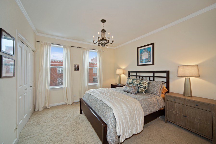 Real Estate Photography - 2717 W. Dakin, Chicago, IL, 60618 - Master Bedroom
