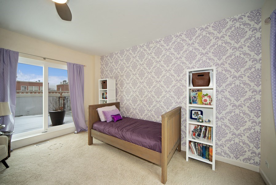 Real Estate Photography - 2717 W. Dakin, Chicago, IL, 60618 - Third Bedroom/Family Room