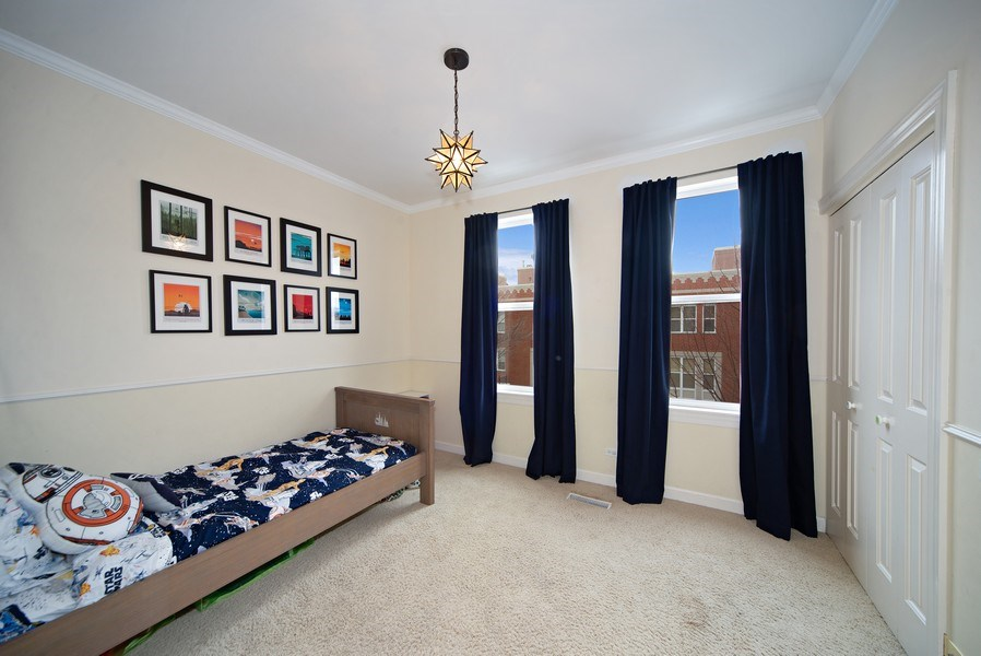 Real Estate Photography - 2717 W. Dakin, Chicago, IL, 60618 - Second Bedroom