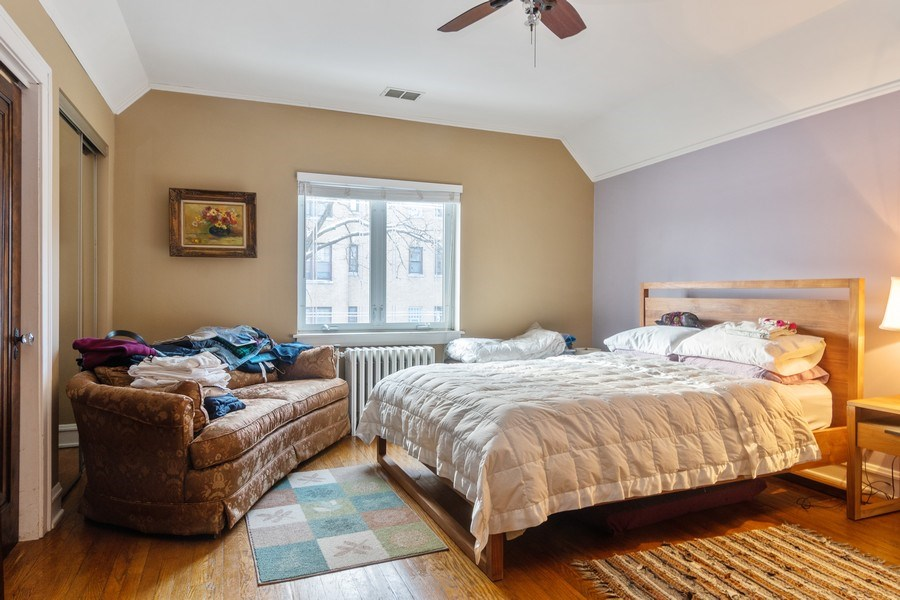Real Estate Photography - 3537 N Racine Ave, Chicago, IL, 60657 - Master Bedroom