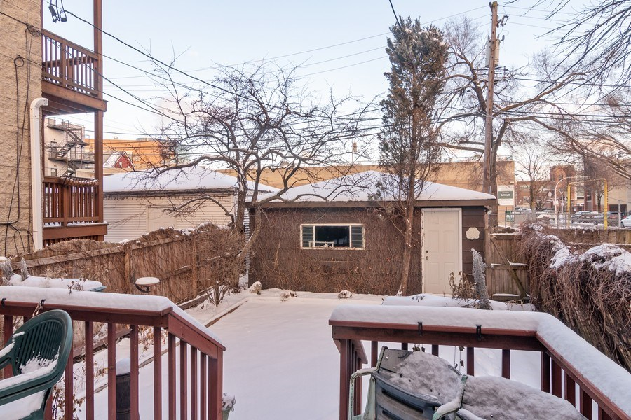 Real Estate Photography - 3537 N Racine Ave, Chicago, IL, 60657 - Back Yard