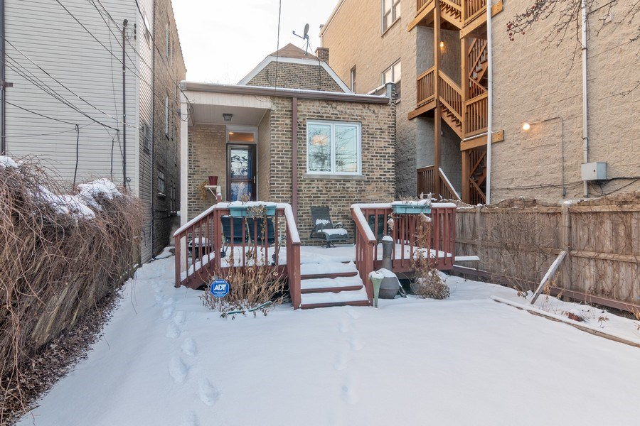 Real Estate Photography - 3537 N Racine Ave, Chicago, IL, 60657 - Rear View