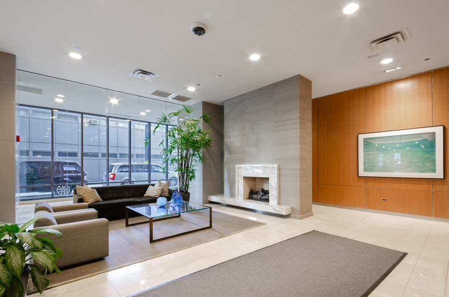 Real Estate Photography - 225 N Columbus, Unit 5804, Chicago, IL, 60601 - Lobby