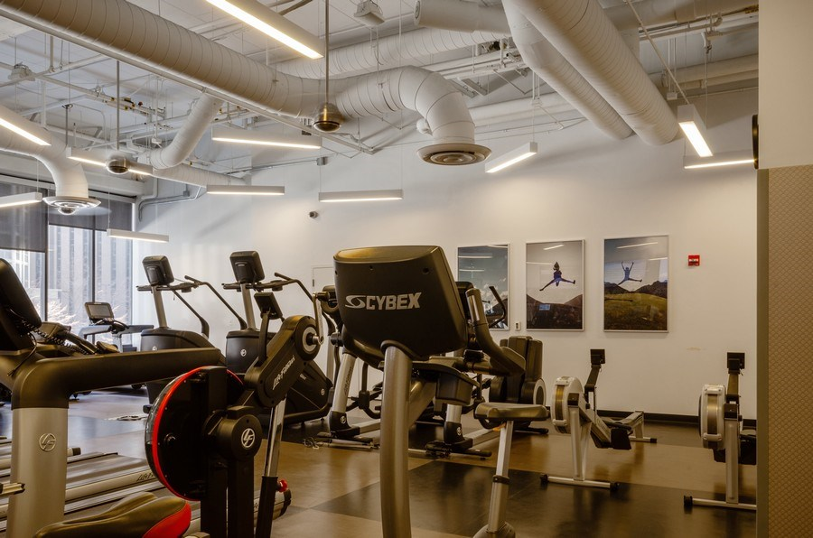 Real Estate Photography - 225 N Columbus, Unit 5804, Chicago, IL, 60601 - Gym