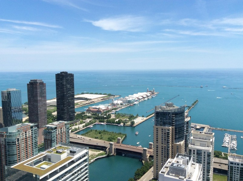 Real Estate Photography - 225 N Columbus, Unit 5804, Chicago, IL, 60601 -