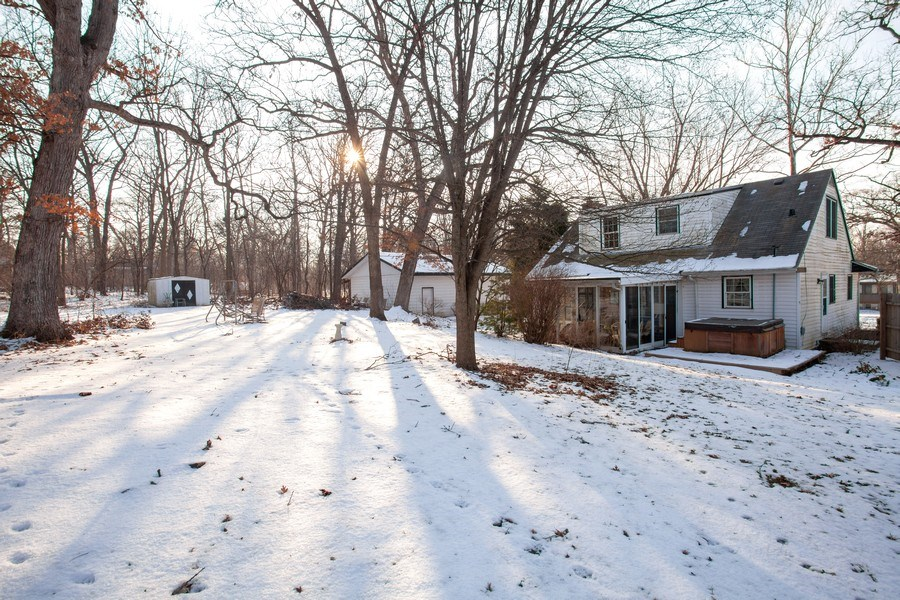 Real Estate Photography - 27W774 Elm Dr, West Chicago, IL, 60185 - Rear View