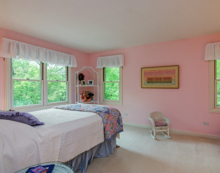 Real Estate Photography - 1 Burning Oak Trail, Barrington Hills, IL, 60010 - 4th Bedroom