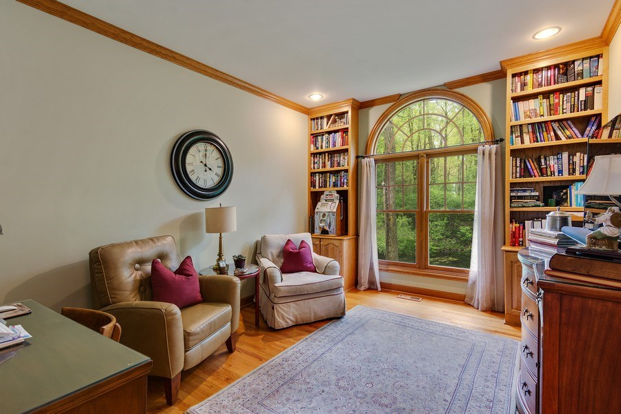 Real Estate Photography - 1 Burning Oak Trail, Barrington Hills, IL, 60010 - Study