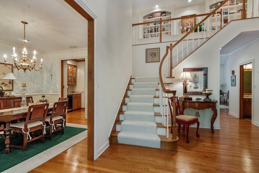 Real Estate Photography - 1 Burning Oak Trail, Barrington Hills, IL, 60010 - Foyer / Dining Room