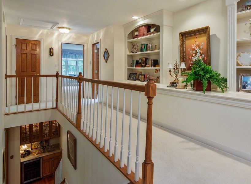 Real Estate Photography - 1 Burning Oak Trail, Barrington Hills, IL, 60010 - Second Floor Hallway