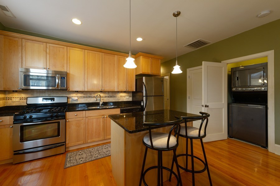 Real Estate Photography - 7633 N Greenview, 3W, Chicago, IL, 60626 - Kitchen Laundry Room