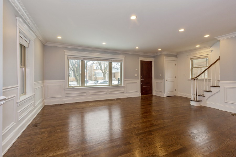Real Estate Photography - 6041 N St Louis Ave, Chicago, IL, 60659 - Living Room