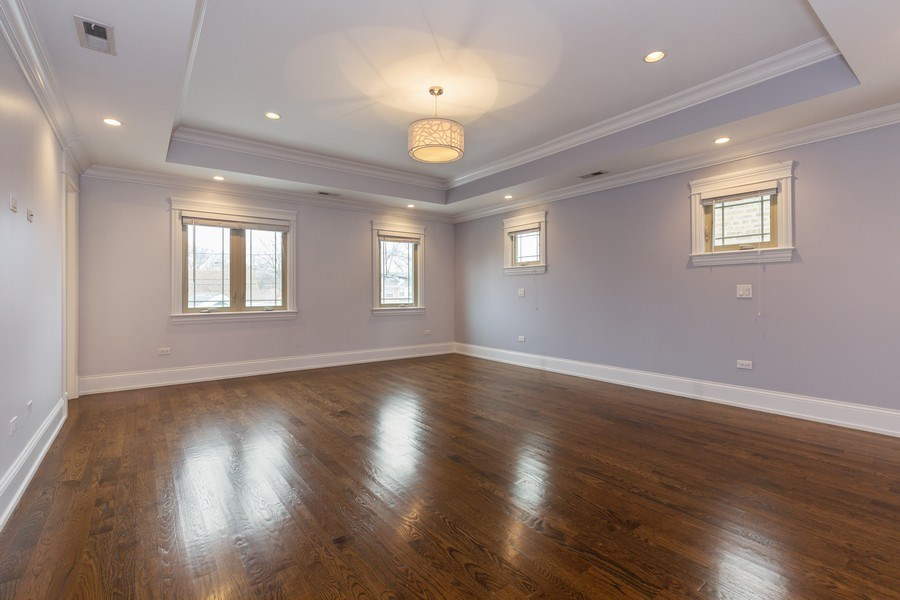 Real Estate Photography - 6041 N St Louis Ave, Chicago, IL, 60659 - Master Bedroom