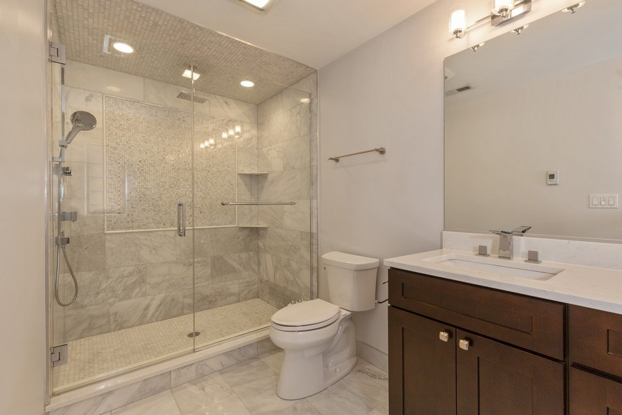 Real Estate Photography - 6041 N St Louis Ave, Chicago, IL, 60659 - Master Bathroom