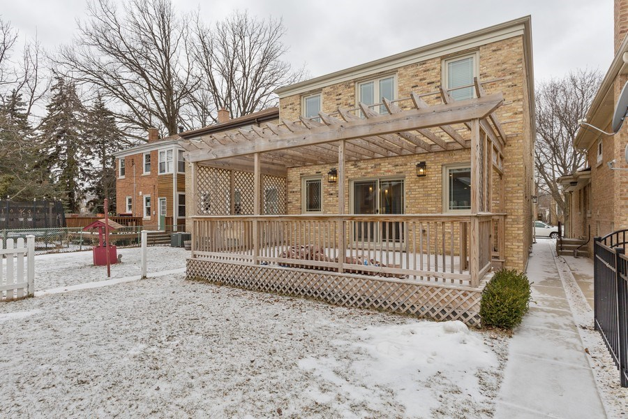 Real Estate Photography - 6041 N St Louis Ave, Chicago, IL, 60659 - Rear View