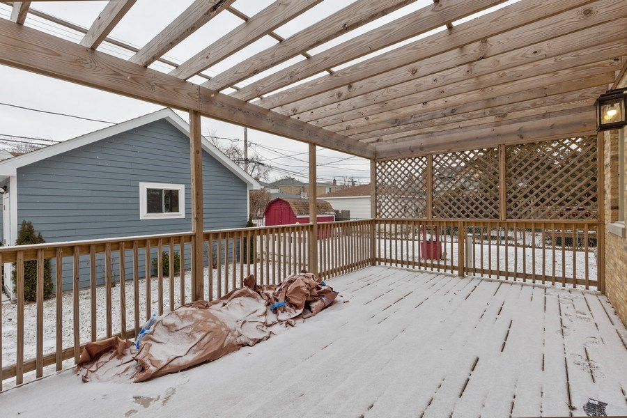 Real Estate Photography - 6041 N St Louis Ave, Chicago, IL, 60659 - Deck