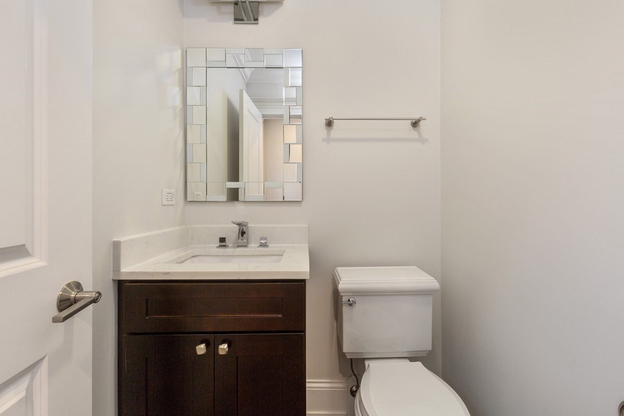 Real Estate Photography - 6041 N St Louis Ave, Chicago, IL, 60659 - Half Bath