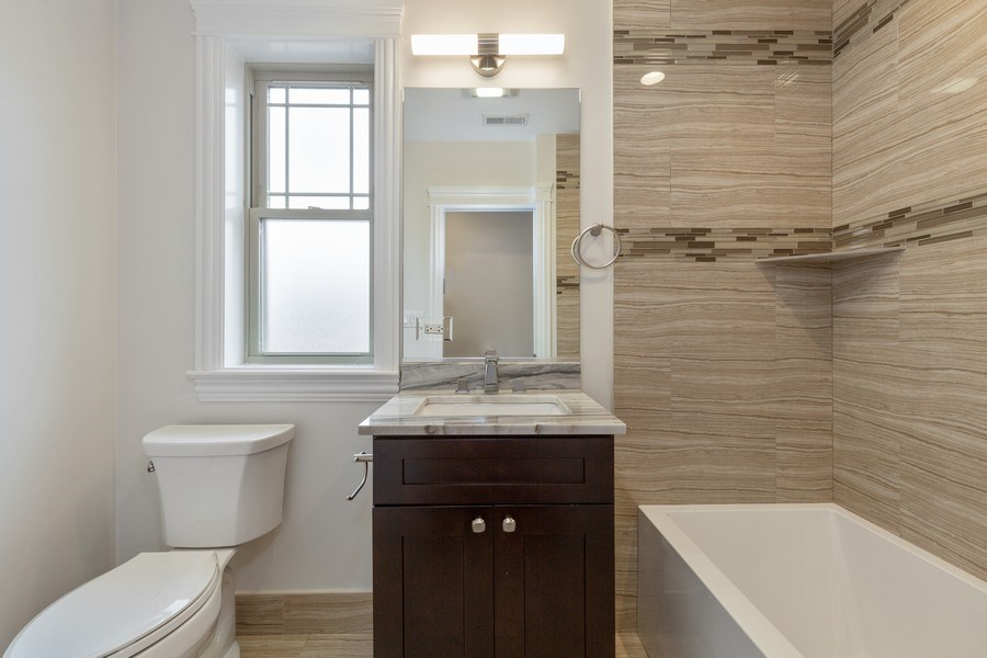 Real Estate Photography - 6041 N St Louis Ave, Chicago, IL, 60659 - Bathroom