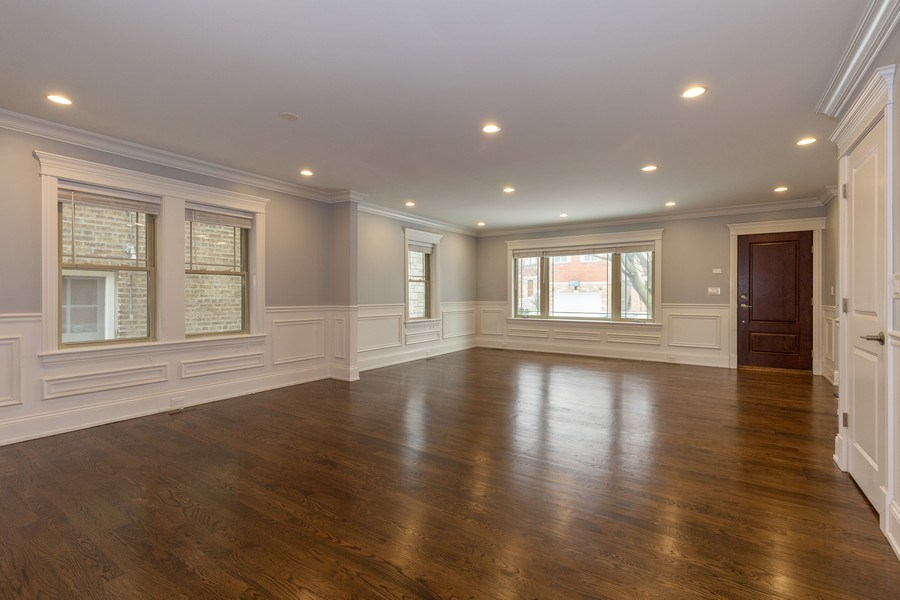 Real Estate Photography - 6041 N St Louis Ave, Chicago, IL, 60659 - Living Room / Dining Room