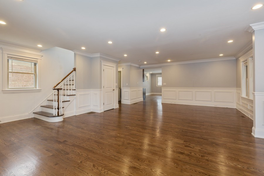 Real Estate Photography - 6041 N St Louis Ave, Chicago, IL, 60659 - Living Room/Dining Room