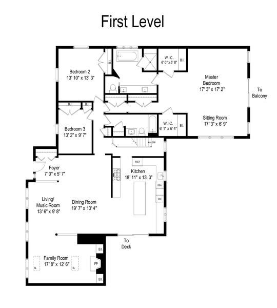 Real Estate Photography - 1202 Prairie Ave, Barrington, IL, 60010 - Floor Plan