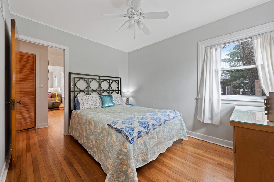 Real Estate Photography - 3210 Colfax St, Evanston, IL, 60201 - Master Bedroom