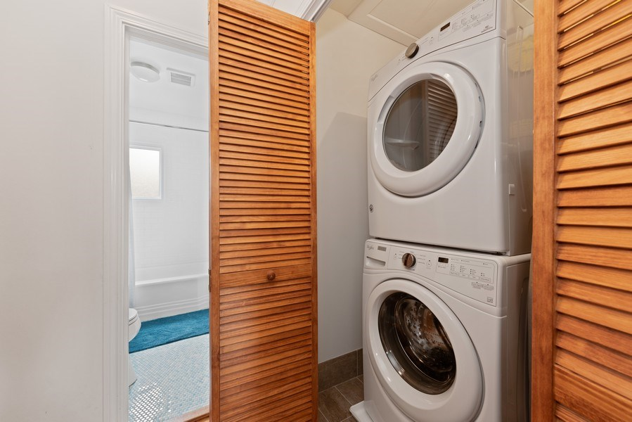 Real Estate Photography - 3210 Colfax St, Evanston, IL, 60201 - Laundry Room