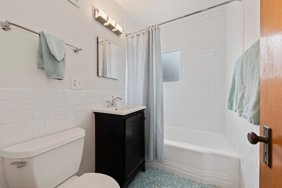 Real Estate Photography - 3210 Colfax St, Evanston, IL, 60201 - Bathroom