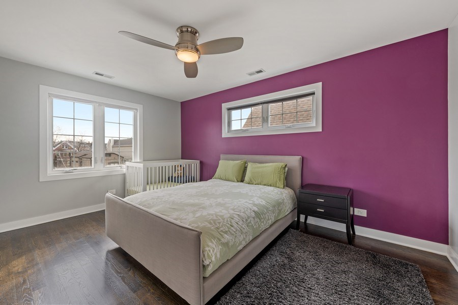 Real Estate Photography - 2917 N Hoyne, Chicago, IL, 60618 - Master Bedroom