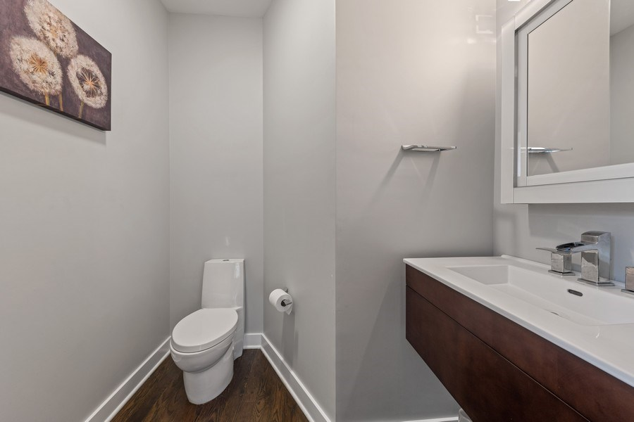Real Estate Photography - 2917 N Hoyne, Chicago, IL, 60618 - Powder Room
