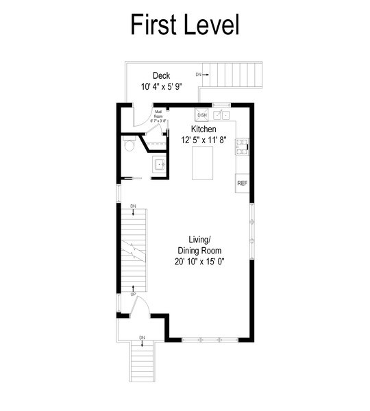 Real Estate Photography - 2917 N Hoyne, Chicago, IL, 60618 - Floor Plan