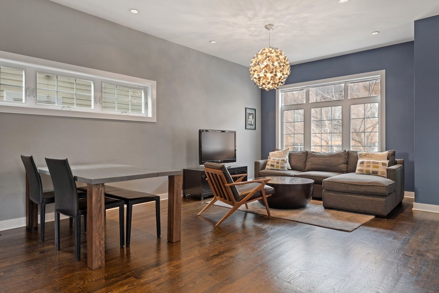 Real Estate Photography - 2917 N Hoyne, Chicago, IL, 60618 - Living Room / Dining Room