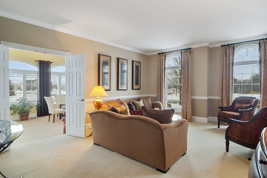 Real Estate Photography - 23 Briar Creek Dr., Hawthorn Woods, IL, 60047 - Living Room