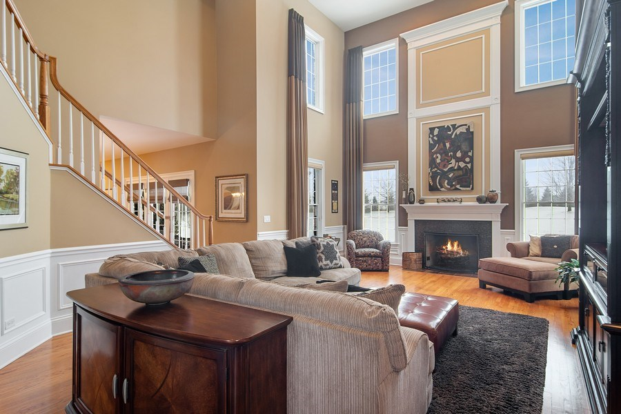 Real Estate Photography - 23 Briar Creek Dr., Hawthorn Woods, IL, 60047 - Family Room