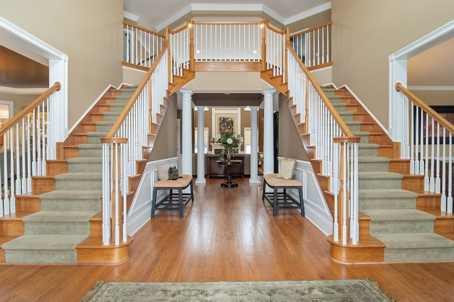 Real Estate Photography - 23 Briar Creek Dr., Hawthorn Woods, IL, 60047 - Foyer