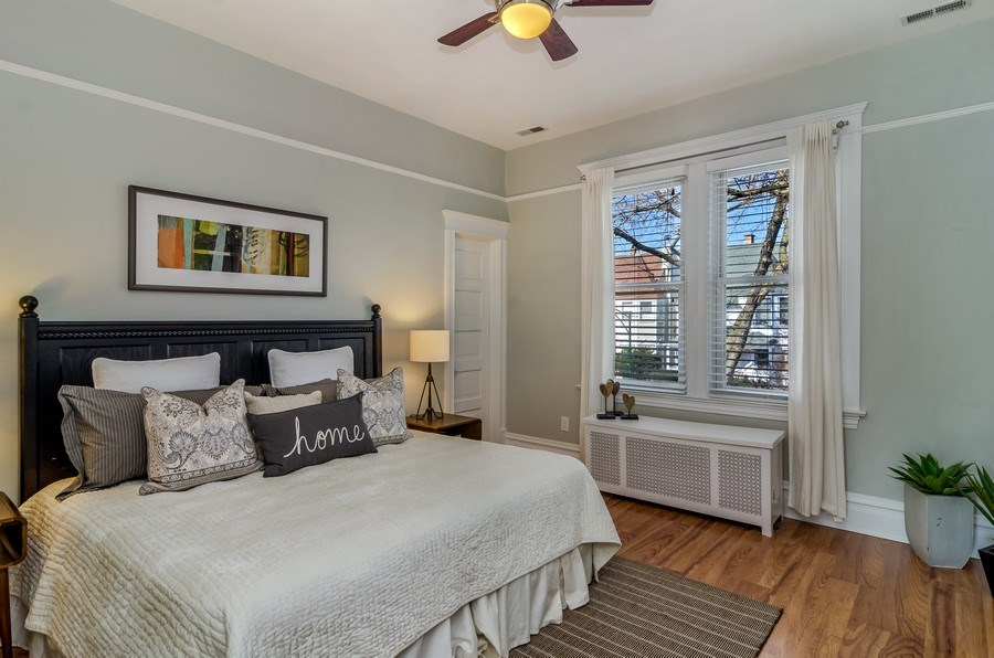 Real Estate Photography - 2129 W. Bradley, Chicago, IL, 60618 - Master Bedroom