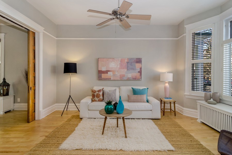 Real Estate Photography - 2129 W. Bradley, Chicago, IL, 60618 - Living Room
