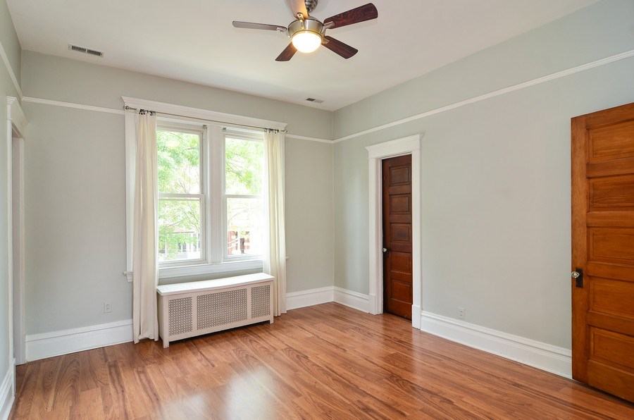 Real Estate Photography - 2129 W. Bradley, Chicago, IL, 60618 - Bedroom