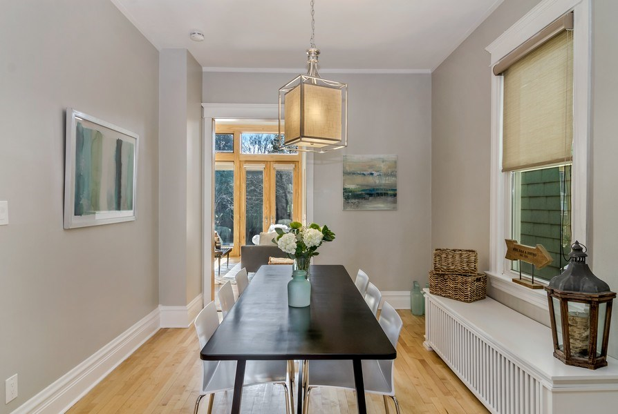 Real Estate Photography - 2129 W. Bradley, Chicago, IL, 60618 - Dining Room