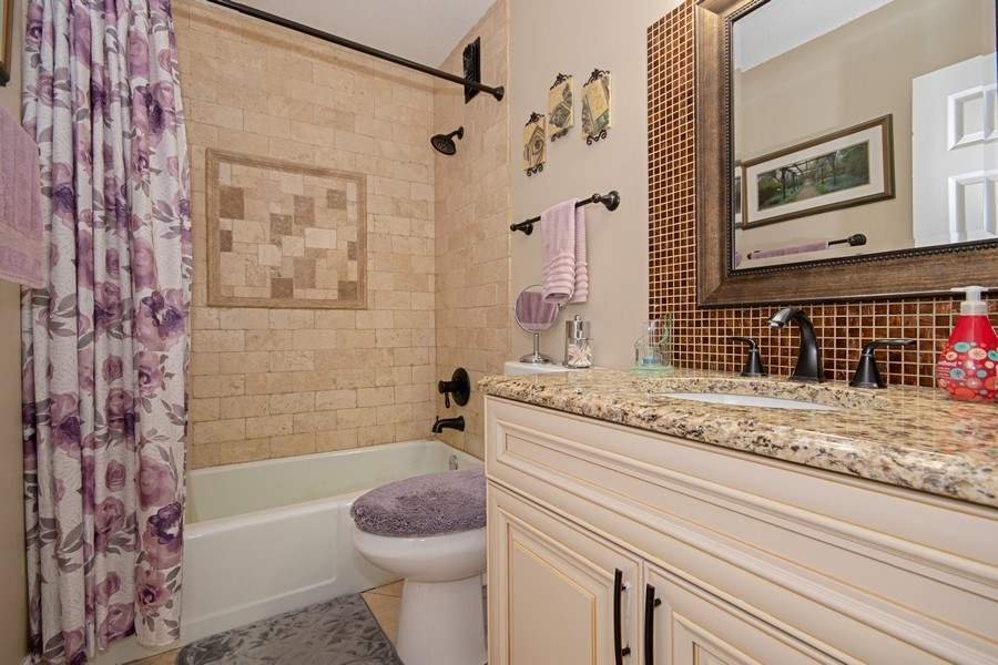 Real Estate Photography - 2201 S. Highland Ave. #3G, Lombard, IL, 60148 - 2nd Bathroom