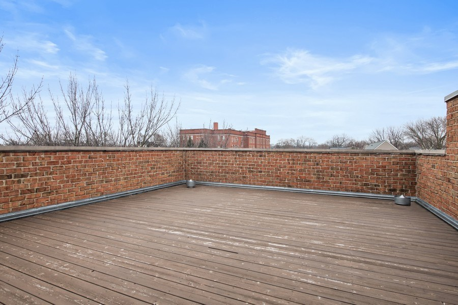 Real Estate Photography - 2153 W Cornelia Ave, Chicago, IL, 60618 - Roof Deck