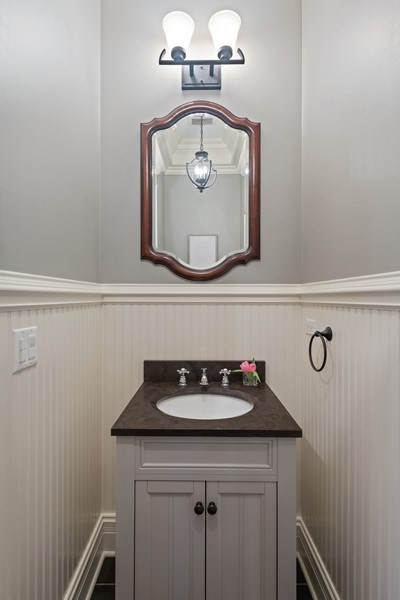 Real Estate Photography - 2153 W Cornelia Ave, Chicago, IL, 60618 - Powder Room